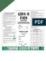 Etiqueta ALEXIN PA - 100 BT ENZYM - Senasa Cambio (2)