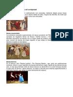 Clasificación de Las Danzas de La Antigüedad