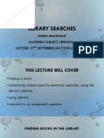 Library Searches Sept 17