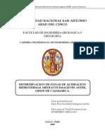 RODRIGUEZ G., Determinación de Zonas de Alteración Hidrotermal Mediante Imágenes ASTER[1]