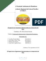 Informe El Papel de Los Organismos Internacionales en El Desarrollo Del País