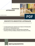 Cognitive Oriented Approach