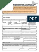 A 262 Registration EES EFTA Foreign National