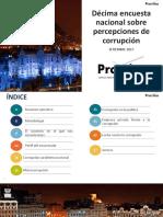 Décima Encuesta Nacional Sobre Percepción de la Corrupción en el Perú 2017