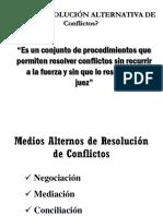 Medios de Resolución de Conflictos-2017