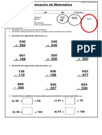 Evaluacion 7 Matemática SEGUNDO SEMESTRE