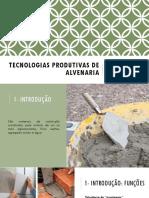 Tecnologias Produtivas de Alvenaria - Argamassa