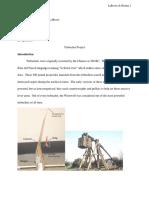 physics trebuchet project