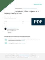 Casuistica y Subjetivismo Falsos Estigmas de La Investigacion Cualitativa