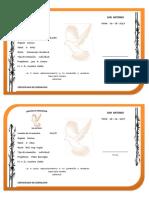 Certificado de Cremacion Veterinario