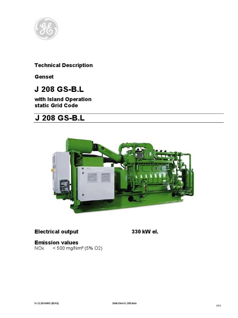 ge jenbacher engines specifications pdf engines gases rh es scribd com