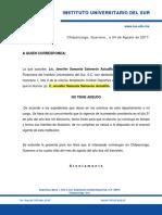 Const de No Adeudo Clausura 2017