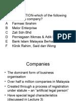 Nota Terkini Company Law