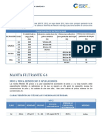 Ficha Técnica Filtro Poliester Retencion de Polvo