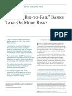 """Afonso, Gara , Santos, Joao a. C. , Traina, James , 2014. Do """"Too-big-To-fail""""Banks Takeon Morerisk Federal Reserve, Bank New York Econ. Pol. Rev. 20 (2) ."""