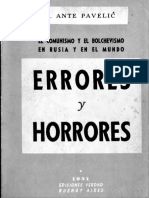 Errores y Horrores - Dr. Ante Pavelic