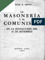 Jordan Bruno Genta - La Masoneria y El Comunismo en La Revolucion Del 16 de Septiembe