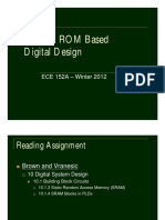L13 - RAM & ROM Based Digital Design
