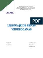 Evolución Histórica de La Lenguaje de Señas Venezolanas