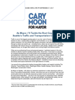 Cary Moon Traffic and Transportation Plan