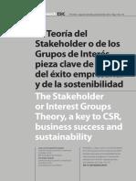 La Teoría del Stakeholder o de los Grupos de Interés.pdf