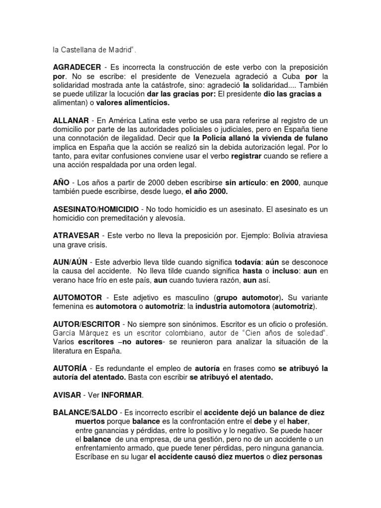 Contemporáneo Reanudar Verbos De Acción Ideas - Ejemplo De Colección ...