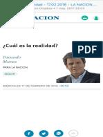 ¿Cuál Es La Realidad - 17.02.2016 - LA NACION