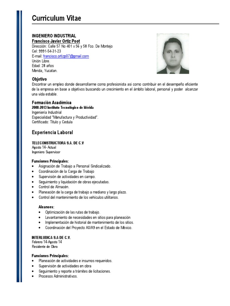 Excepcional Estudiante De Ingeniería Mecánica Curriculum Vitae India ...