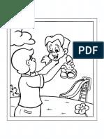 Dia Pais Desenho Segurando 1