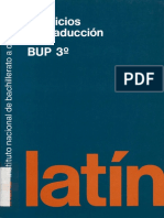 Latin Ejercicios de Traduccion . Bup 3. INBAD