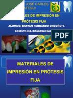 Materiales de impresion en Protesis Fija