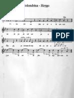 partitura Golondrina