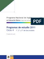 Programa Ingles Secundaria