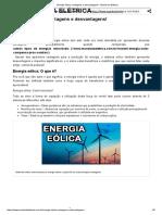 Energia Eólica, Vantagens e Desvantagens! - Mundo Da Elétrica