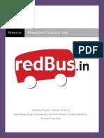 156182720 Managing Organizations Redbus Report