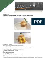 Coulant de Butifarra, Patatas, Huevo y Gambas