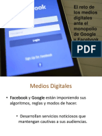 Medios Digitales vs Google y Facebook