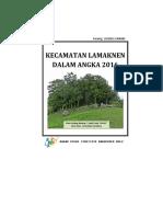 Kecamatan Lamaknen Dalam Angka 2016