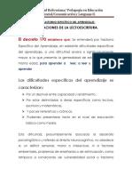 Alteraciones de La Lectoescritura.