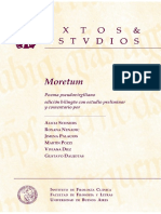 Moretum Poema Pseudovirgiliano