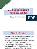 11. Política Nacional de Resíduos Sólidos.2017