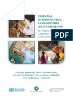 Essential_interventions to Reduce Maternal, Baby and Child Mortality