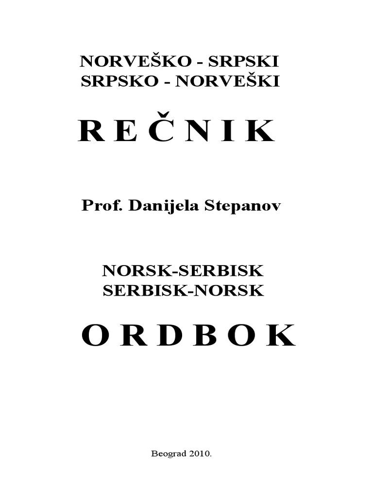 b7150b9d Norsk Serbisk Ordbok