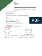 Guía Medidas Ángulos Interiores y Exteriores Diferentes Polígonos