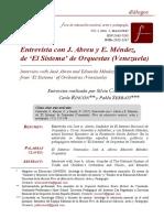 Entrevista Con J. Abreu y E. Méndez