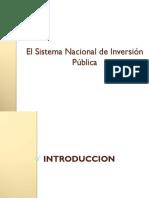 6. Sistema Nacional de Inversion Publica