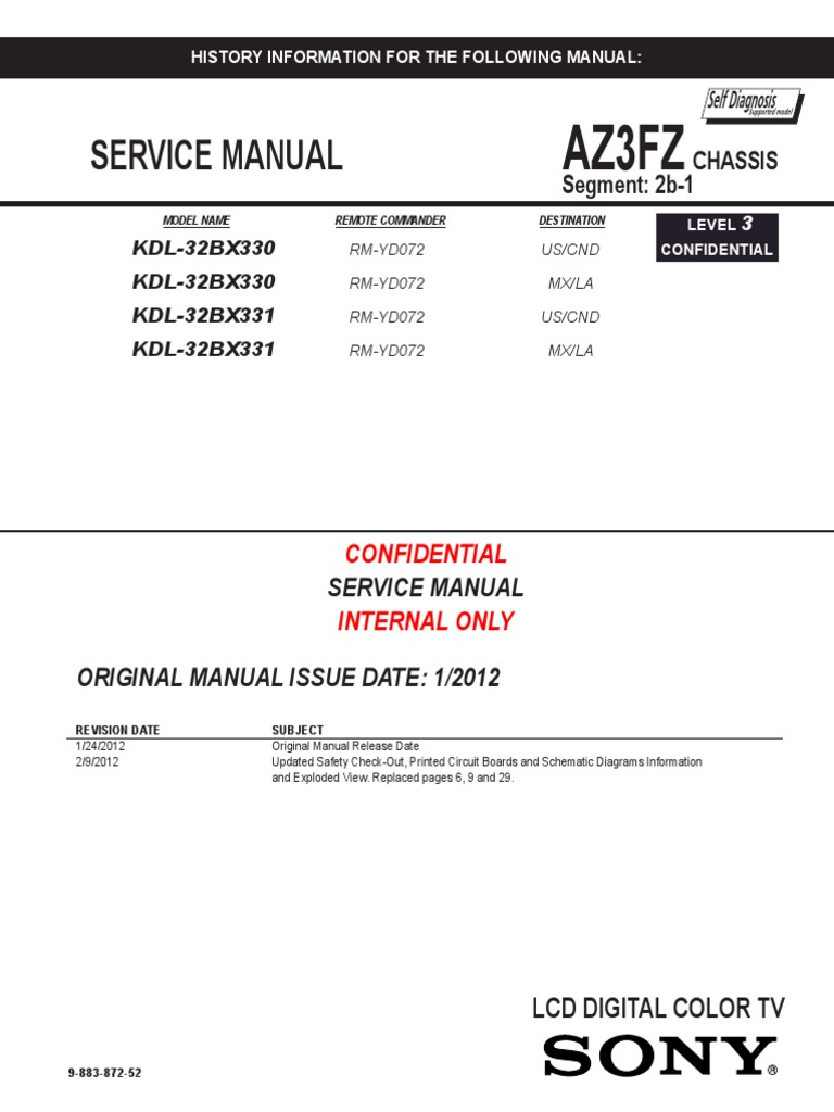 kdl 32bx330 331 1 high definition television resistor rh scribd com Samsung Galaxy S Manual Samsung User Manual Guide