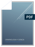 Criminologia y Ciencia