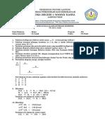 Soal UTS Kimia Kelas XI Semester 1