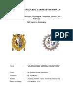 Calibración de Material Volumétrico(LabN2)